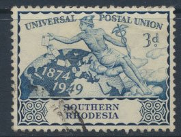Southern Rhodesia  SG 69  SC# 72 Used UPU 1949  see scans