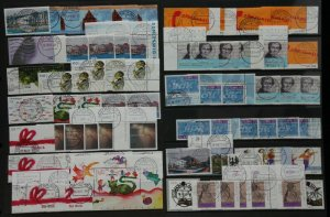 Germany 2001 collection of town die and briefzentrum postmarks on commemo Stamps