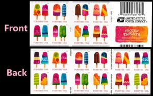US 5285-5294 5294b Frozen Treats forever horz gutter booklet 20 MNH 2018