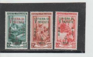 Trieste  Scott#  178-180  MH  (1953 Overprinted)