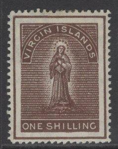VIRGIN ISLANDS SG41 1887 1/= BROWN MTD MINT