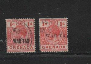 GRENADA #MR1-MR2  1916  WAR TAX       F-VF  USED  b