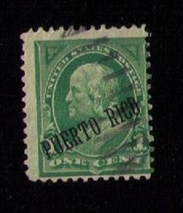 US PUERTO RICO Scott 210 Used Ylw Green Fine