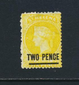 ST HELENA 1868, 2d YELLOW, VF MINT SG#9 CAT£180 $234 (SEE BELOW)