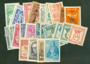 selection Brazil 1952-54 mint 28 different CV $30