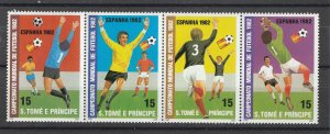 St. Thomas & Prince MNH World Cup Soccer 1982