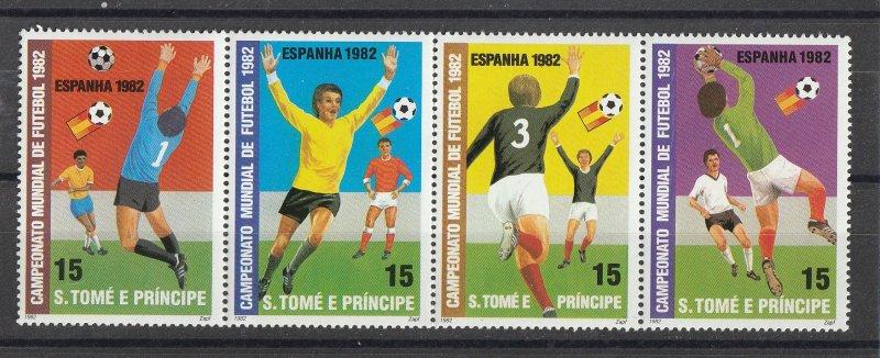 St. Thomas & Prince Islands MNH World Cup Soccer 1982