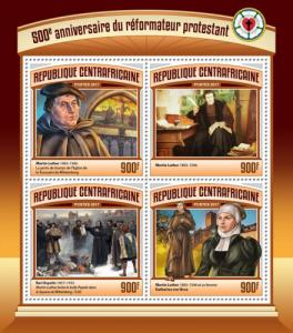 C A R - 2017 - 500th Anniversary of Reformation - 4v Sheet - M N H