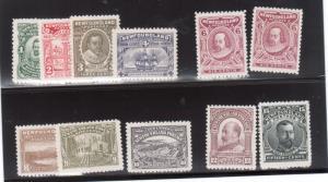 Newfoundland #87 - #97 (#92a) Very Fine Mint Original Gum Hinged