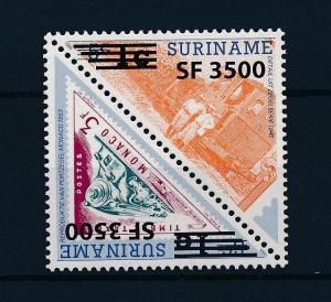 [SU1217] Suriname Surinam 2003 Railway Train OVP 3500 on 1c Triangle MNH