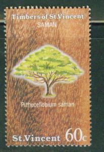 St Vincent Scott 969 1986 Tree stamp Mint no gum
