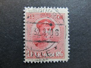 A4P27F81 Letzebuerg Luxembourg 1921-26 15c used