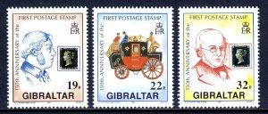 Gibraltar - Scott #570-572 - MNH - SCV $5.75