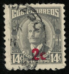 Serafin Sanchez, overprint 2 cents, 14 cents, Cuba (Т-6115)