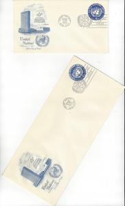 United Nations U2 & 2a, Postal Stationery,  Artmaster FDC