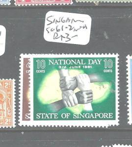 SINGAPORE (P1804B) SG 61-2  MNH