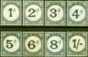 Trinidad 1905 P.Due set of 8 SGD10-D17 Fine Lightly Mtd Mint