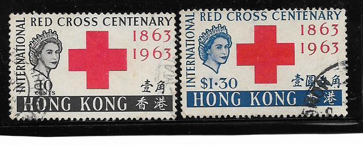 HONG KONG 1963 2 STAMPS VERY FINE USED