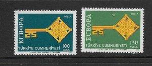 TURKEY - EUROPA 1968 - SCOTT 1775 TO 1776 - MNH