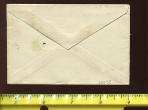 Hawaii Scott 31a Used Stamp on Small Cover with Negative 'HI' Cancel (H 31-C1)