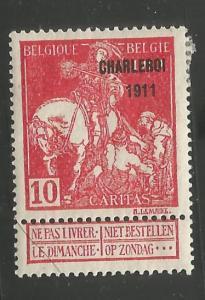 BELGIUM, B24, MINT HINGED, OVPTD 1911 ST. MARTIN OF TOURS DIVIDING HIS CLOAK