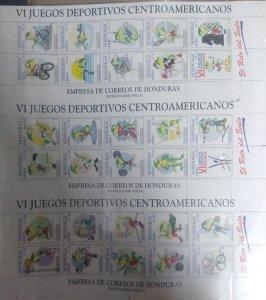 J) 1997 HONDURAS, ERROR FROM PERFORATION, VI CENTRAL AMERICAN SPORTS GAMES, BASE