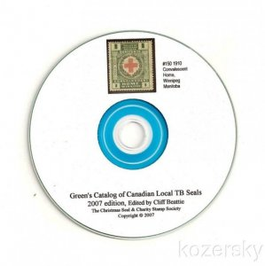 Green's Catalog, Canada Local TB Charity Seals, 2007 ed., CD