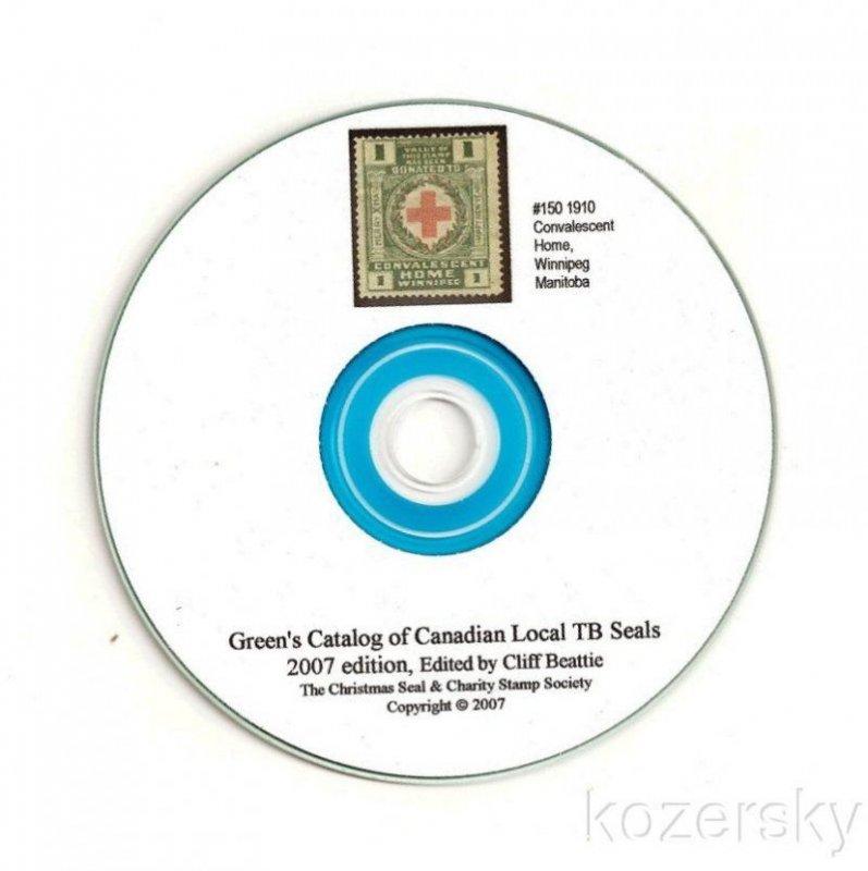 Green's Catalog, Canada Local TB Charity Seals, 2007 ed., CD