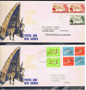 PAPUA NEW GUINEA 1962 FDC' s