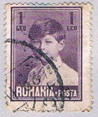 Romania 323 Used Portrait of King Michael I 1928 (BP29125)