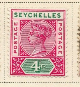Seychelles 1890 Early Issue Fine Mint Hinged 4c. 326856