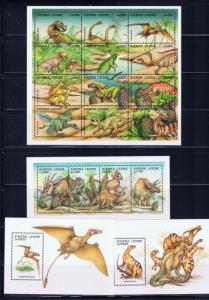 Sierra Leone 1791-94 MNH 1995 Dinosaurs