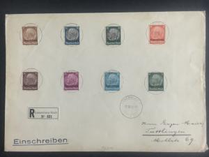 1940 Luxembourg Occupation Oversize Cover Registered to Tullingen Germany