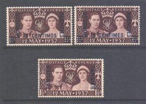 Morocco Agencies Scott 82 439 & 514, 1937 Coronation Lot MH*