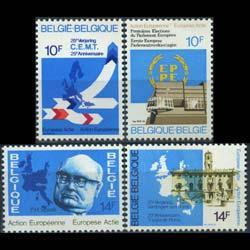 BELGIUM 1978 - Scott# 1006-9 European Actions Set of 4 NH