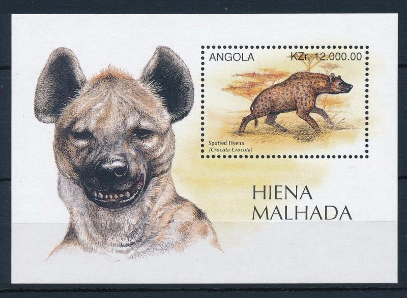 [31189] Angola 1996 Wild animals Mammals Hyena MNH Sheet