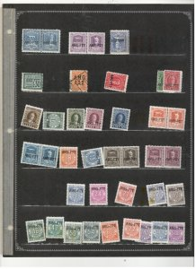 ITALY AMG COLLECTION ON STOCK SHEET MINT/USED