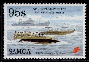 SAMOA QEII SG963, 95s American transport, NH MINT.