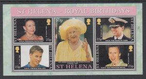 St Helena 759 Souvenir Sheet MNH VF