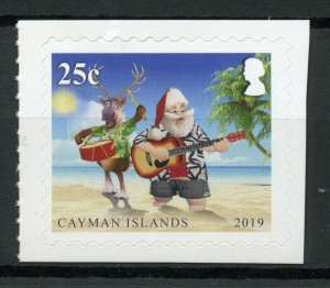 Cayman Islands Christmas Stamps 2019 MNH Santa Reindeer Trees 1v S/A Set