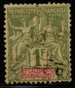 $New Caledonia Sc#58 used, F-VF, high value, Cv. $26.50