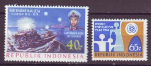 J21065 Jlstamps 2 1974 indonesia sets of 1 mh #862,918 designs.