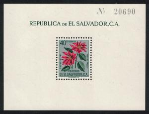 El Salvador Christmas Flowers MS SG#MS1149a MI#Block 6 SC#718