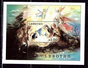 Lesotho 318 MNH 1980 Christmas S/S    (ap2607)