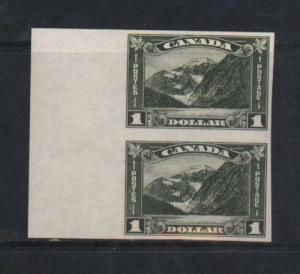Canada #177a XF/NH Imperforate Margin Pair *With Cert.*