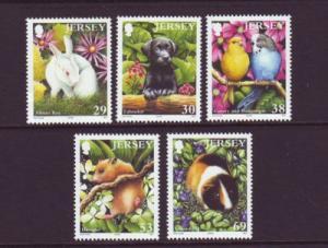 Jersey Sc 1093-97 2003 Pets stamp set mint NH