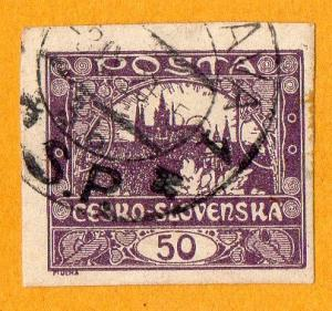 Czechoslovakia Hradcany, Prague [1919] 50h 1919 Used