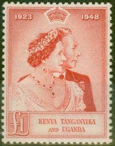 KUT 1948 RSW £1 Scarlet SG158 V.F MNH