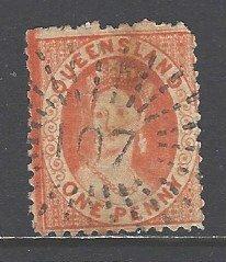 Australia Queensland Sc # 44 used perf 12 (RRS)