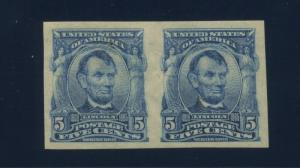 Scott #315 Lincoln Imperf Mint Pair of 2 Stamps (Stock #315-34)